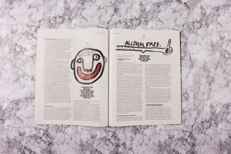 Anna Kiosse Volkskrant Magazine — Illustration