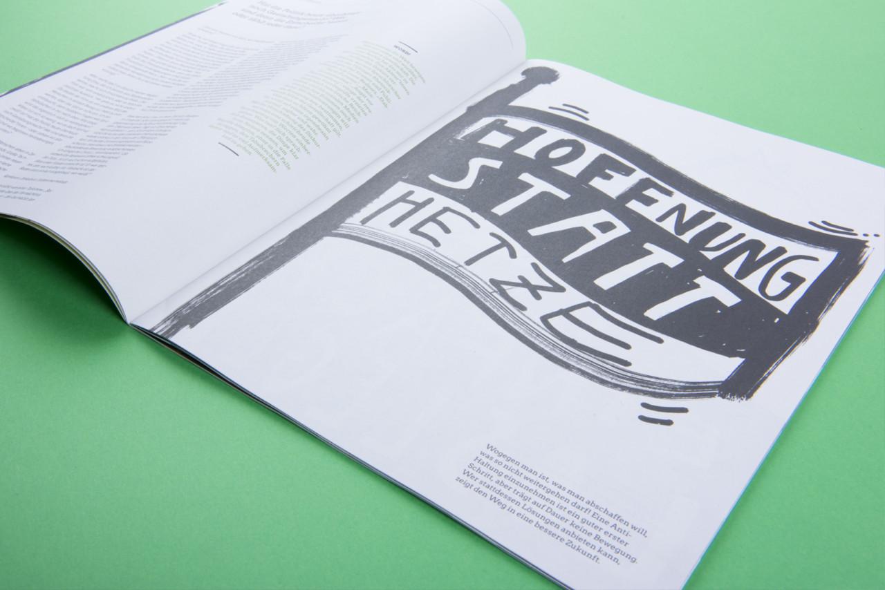 Anna Kiosse Die Grüne Magazin – The Green Party Magazine Germany Illustration