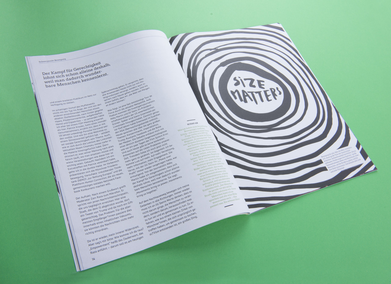 Anna Kiosse Die Grüne Magazin – The Green Party Magazine Germany Illustration