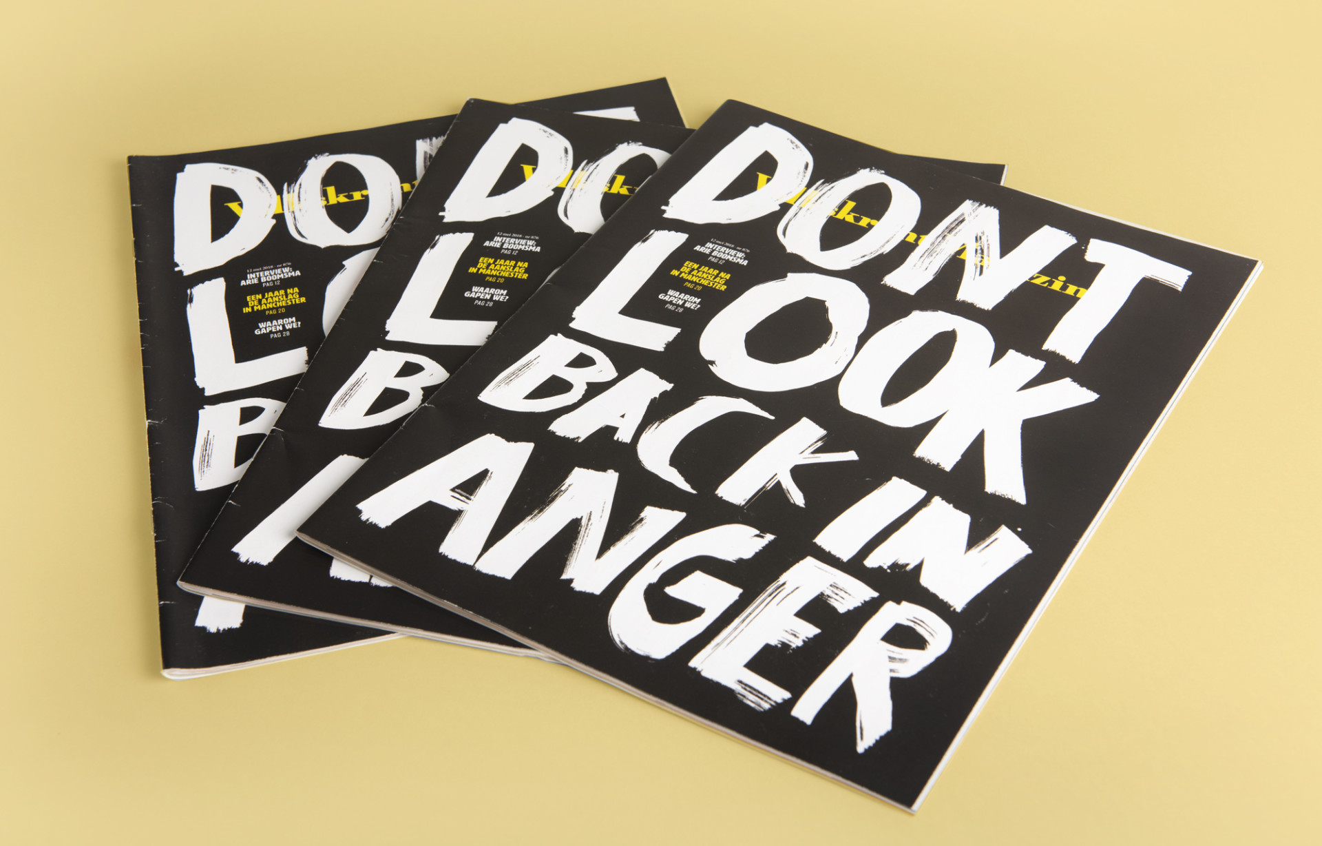 Anna Kiosse Volkskrant Don't look back in Anger
