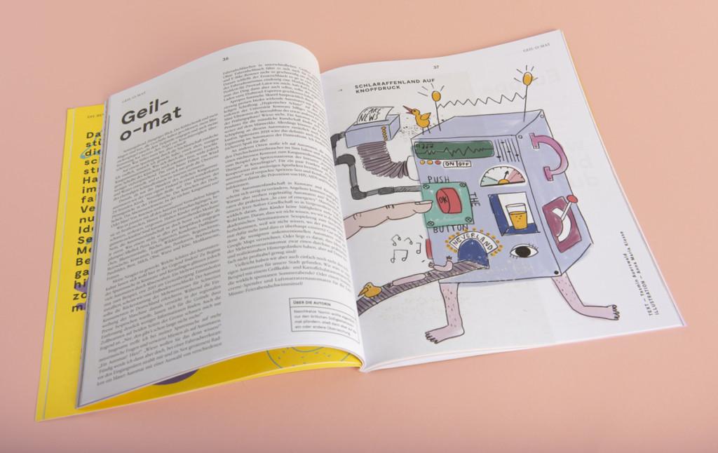 Anna Kiosse The Ultimate Machine – Illustration for NUN magazine